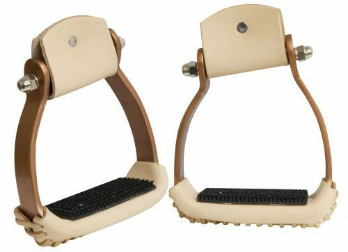 Showman Lightweight design Angled COPPER colord Aluminum STIRRUPS