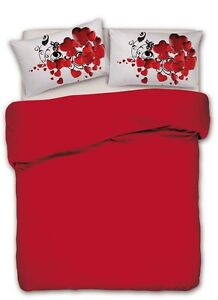 Lenzuola Matrimoniali Rosse.Completo Lenzuola Matrimoniale 2 Piazze Cuore Rosso Stampe