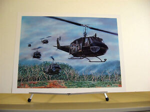Bell-UH-1-Huey-Helicopter-Iroquois-Vietnam-War-Aviation-Art-Print