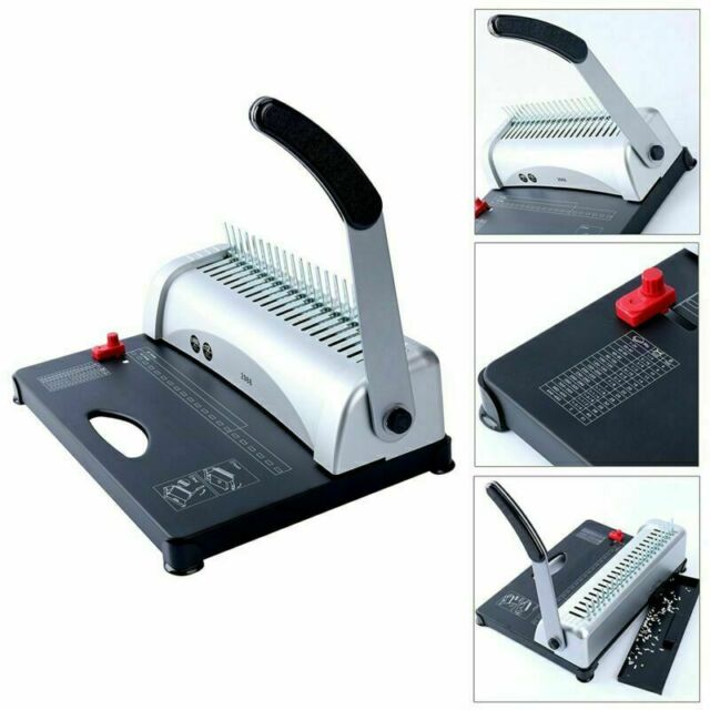 Home Office Comb Binding Machine 21Hole 450Sheet Plastic Coil Paper Punch Binder