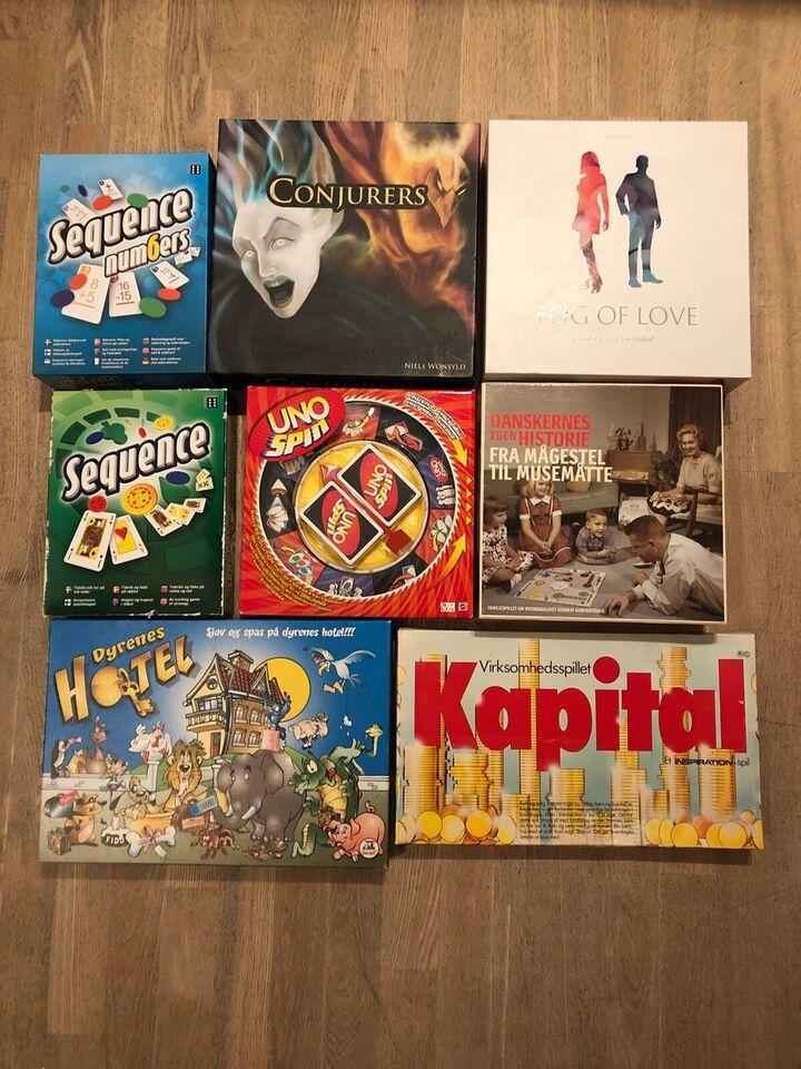 Diverse brætspil 35-175 kr, Strategi, børne og