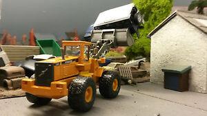VOLVO-L150C-con-ruote-Caricatore-Escavatore-1-87-OO-00-Cararama-Modello-SCATOLA-DANNEGGIATA