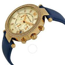 Michael Kors Parker Chronograph Gold Dial Leather Quartz Womens Watch MK2280