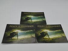 3 Rolex Submariner booklet 14060 16610 16600 16613