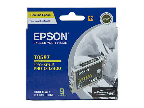 Epson T0597 UltraChrome K3 Light Black Ink Cartridge C13T059790 STYLUS R2400