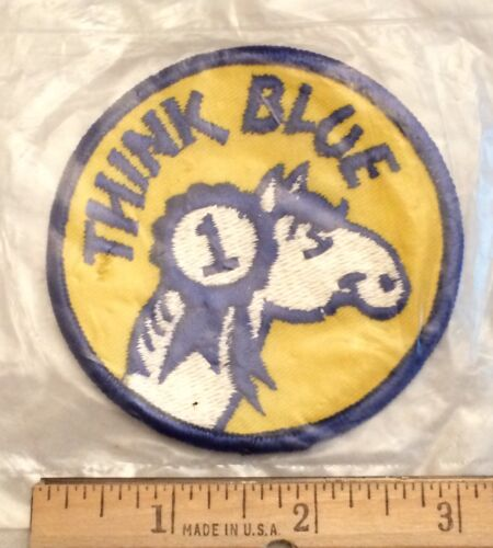 Think Blue #1 First Place Blue Ribbon Horse Equestrian Rodeo Embroidered Patch