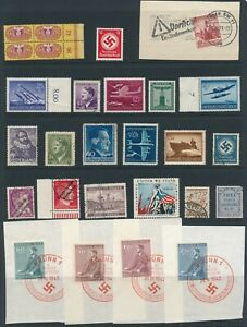 Lot-Stamp-Germany-Poland-Bohemia-Revenue-WWII-Hitler-Wehrmacht-Brunn-CTO