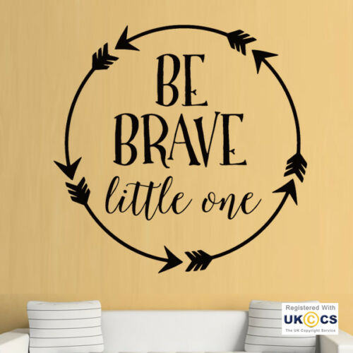 Wall Stickers Brave Little One Quote Cute Arrows Nursery Art Decal Vinyl Room
