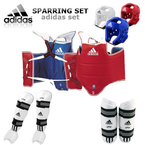 MEW Adidas TKD WTF Approved TAEKWONDO Sparring Gear  Set & Free Mouth Guard  the latest models