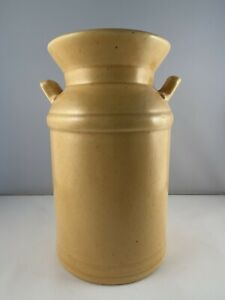 "Haeger USA Pottery Speckled Yellow Milk Can Planter Vase #375 Vintage 7.25"" Tall"