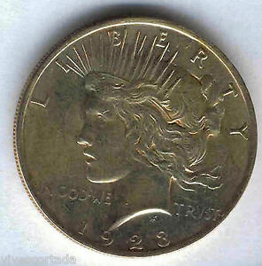 U-S-A-1-Dolar-Liberty-1923-Bella-pieza-plata