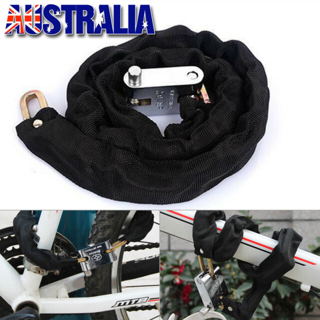 For Motorcycle Bike Bicycle Heavy Duty Chain Lock High Security Hardened Steel