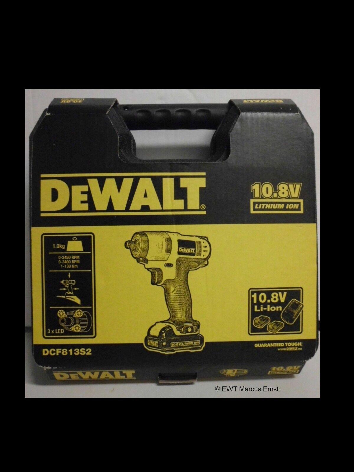 DeWALT  10,8 Volt Akku- Schlagschrauber DCF813S2 - DCF 813 S2 1,5Ah