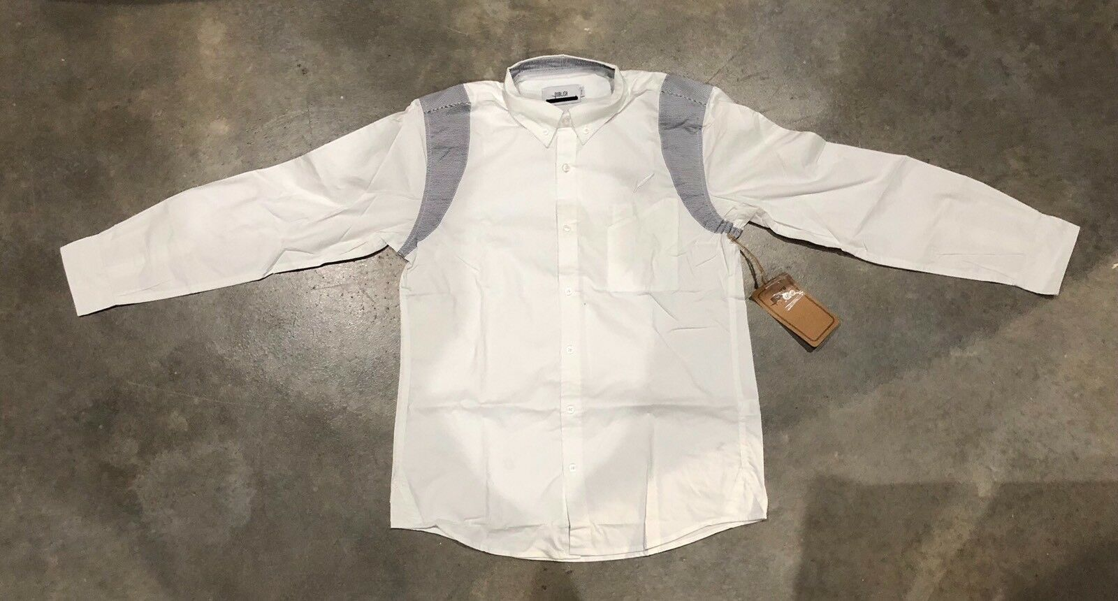 Publish Feather Logo Longsleeve Button Up In White Sz. L NWT 100% Authentic