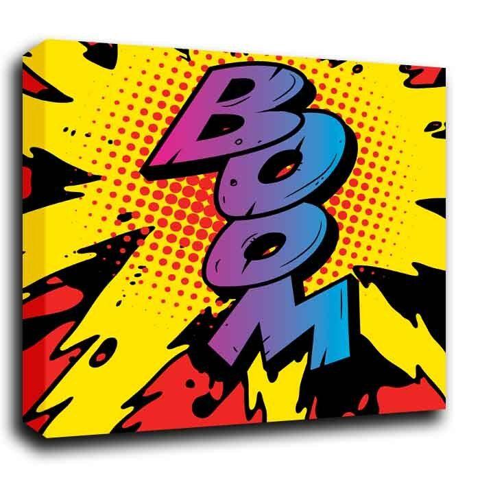 Boom imprimer Roy Lichtenstein Style Abstrait Pop Art Toile imprimer Boom Divers Tailles Pré 70d606