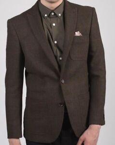 Freundlich Men's Harry Brown Tailored Fit Blazer In Brown Check 40r Sample 2676 QualitäTswaren .