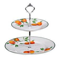 Orange Grove Cake Stand, 2 Tier, Bone China .Tea Party Cupcake By Premier