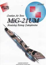 "zr72001/ Ze-Ro Decals - MiG-21 UM - Kroatische Luftwaffe"" - 1/72"
