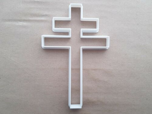 Cross Of Lorraine French Symbol Shape Cookie Cutter Dough Biscuit Fondant Sharp