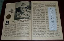 1959 TV ARTICLE~SINGER BING CROSBY~HE WATCHES THE FIGHT AND FOOTBALL GAMES