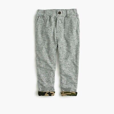 New Fashion J.crew Crewcuts Boys' Button-front Camo-lined Sweatpants 3 Baby & Toddler Clothing