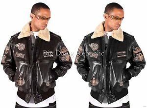 Aviatrix-Mens-Boys-US-Air-Force-Pilot-Flying-Bomber-Leather-Jacket-Black-Brown