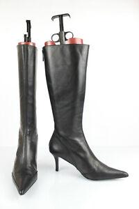 taglia 40 511e0 4179a Zara Stivali Punte Punta pelle Nero T 36 Ottime Condizioni   eBay