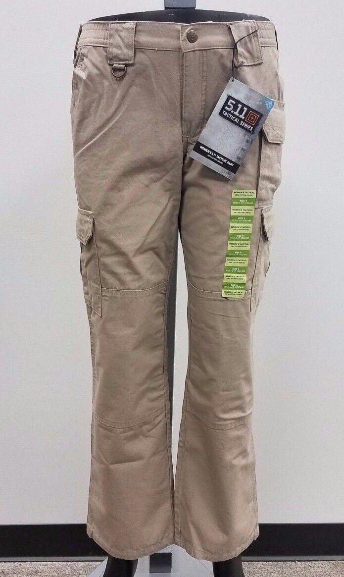 5.11 Women's Tactical Pants, Khaki, 100% Cotton, NWT, Multiple Sizes, 64358-055