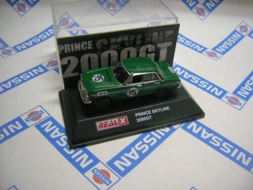 Early SKYLINE 2000GT #95 Green DATSUN 1/72 REAL-X Yodel S54B MINI CAR NOS