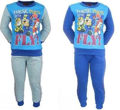 Boys Girls Kids Paw Patrol Tracksuit Jogging Outfit Set Zipped Jacket age 2-6yrs