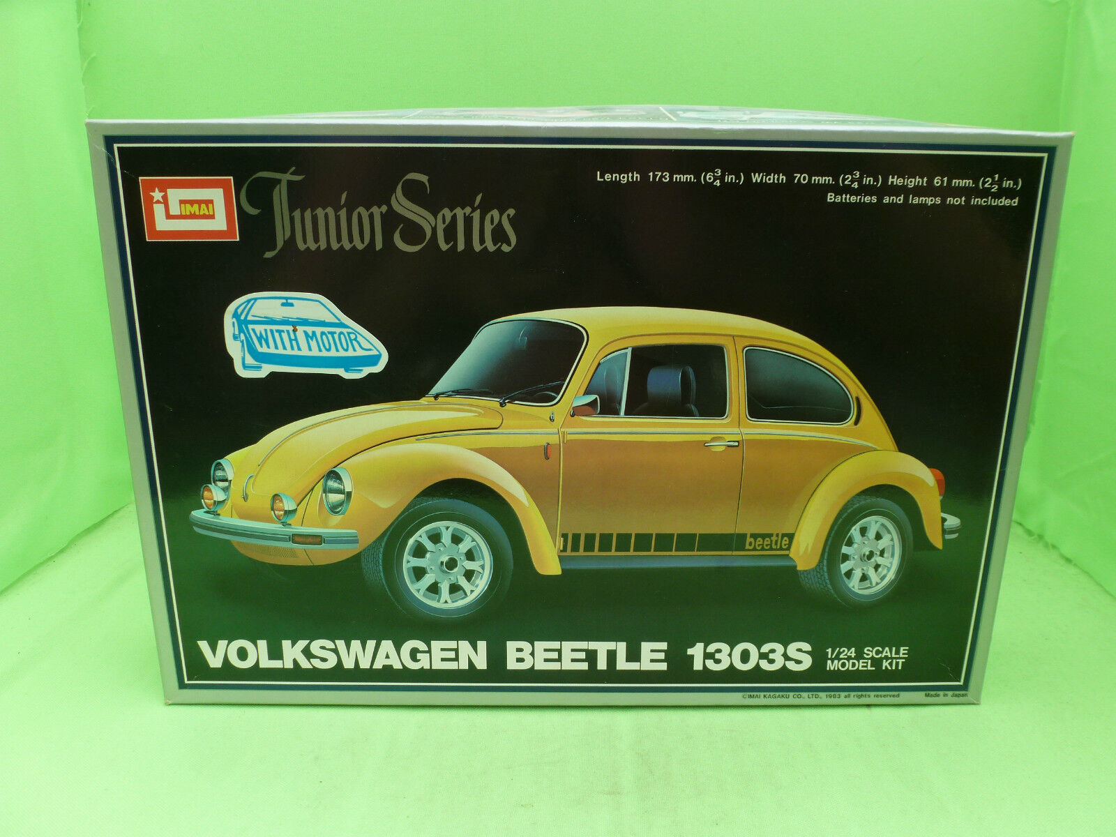 IMAI NO.9 B-1321 VW BEETLE KAFER  - WITH MOTOR - 1 24 - UNBUILT INBOX COMPLETE -