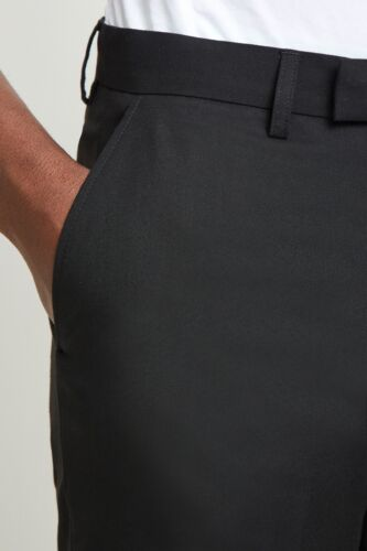vestibilità aderenti aderenti skinny Moss Mens London Pantaloni neri Pantaloni con Onq8Yg