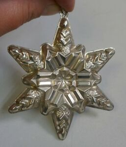 First Gorham Sterling Silver Snowflake 1970 Annual ...