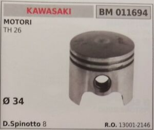 130012146 PISTONE COMPLETO SEGMENTI E SPIN MOTORE KAWASAKI TH 26 Ø 34
