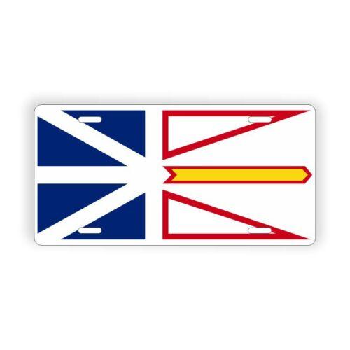 """Newfoundland and Labrador Provinical Flag Licence Plate 6/"""" x 12/"""" Aluminum Plate"""