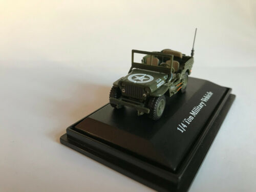 Jeep CJ-5 1//4 Ton US Army 1944 Cararama Fahrzeug Modell 1:72
