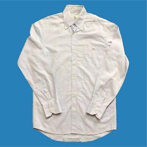 Mens-Lacoste-Shirt-Medium-Light-Blue-Long-Sleeve