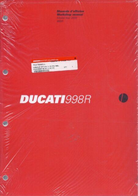 2002 ducati 998 r 91470401a factory workshop manual english rh ebay com Ducati 899 Ducati 999