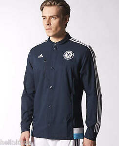45d23b70b Image is loading Adidas-CHELSEA-ANTHEM-JACKET-Football-Soccer-Sweat-Shirt-