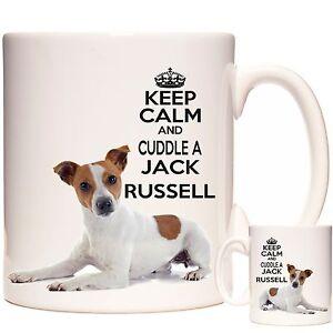 JACK RUSSELL Gift Coffee Mug / Tea Cup. Kazmugz Exclusive. Keep Calm Cuddle A