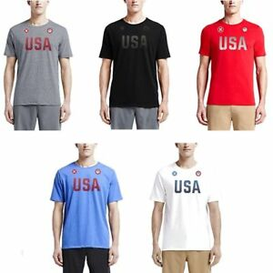 Hurley-Men-039-s-Dri-FIT-Team-USA-Tee-T-Shirt