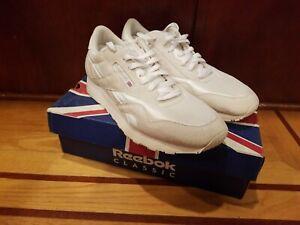Reebok Classic Nylon Light Grey White Mens Running Tennis Shoes Item 6390