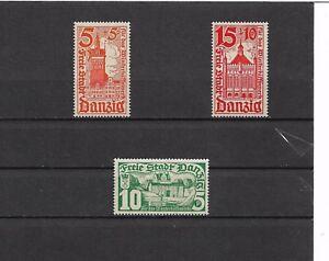 Danzig-Gdansk-1935-Michelnummern-256-258-postfrisch-Katalogwert-22