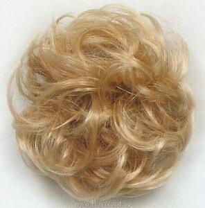 Curly-hair-ponytail-holder-Scrunchie-Hairpiece-3-034-Hair-on-Stretchy-Elastic