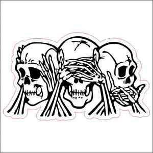 See No Hear No Speak No Evil Custom Printed Vinyl Decal Sticker - Custom printed vinyl decals