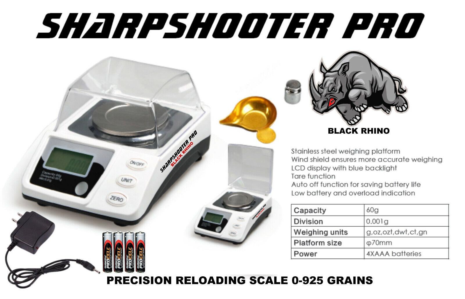 Digital Escala De Recarga SHARPSHOOTER PRO 925gn 0.02gn Deluxe Retroiluminado Disp