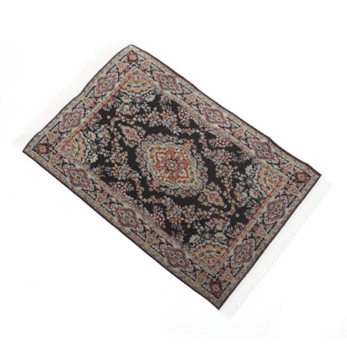 1:12 Dollhouse Miniature Embroidered Carpet Rug Mat Floor Covering Accessory