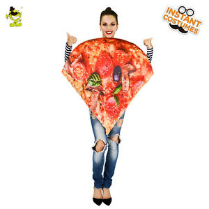 Image is loading Women-Pizza-Costume-Slice-of-Pepperoni-Pizza-Funny-  sc 1 st  eBay & Women Pizza Costume Slice of Pepperoni Pizza Funny Christmas Cosplay ...