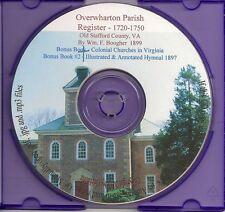 Overwharton Parish Registry - Stafford Co VA Genealogy