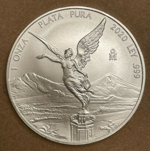 2020 In-Hand Mexico Libertad 1 oz .999 Silver Low Mintage BU Bullion Coin